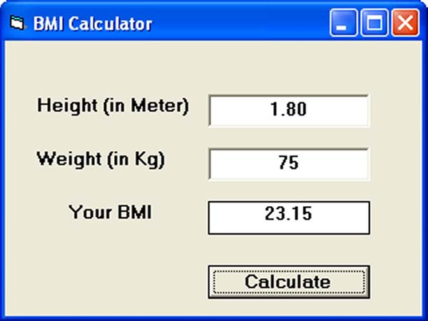 On Line BMI calculator