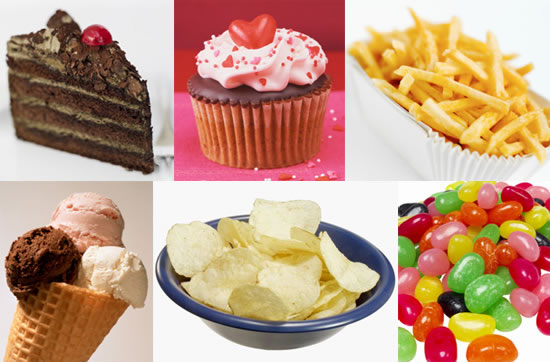 High calorie, high carb foods often craved and hard to control