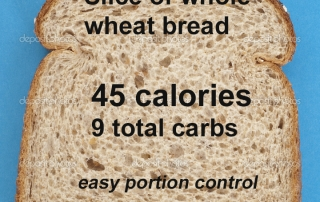 whole wheat can be low in calories and carbs