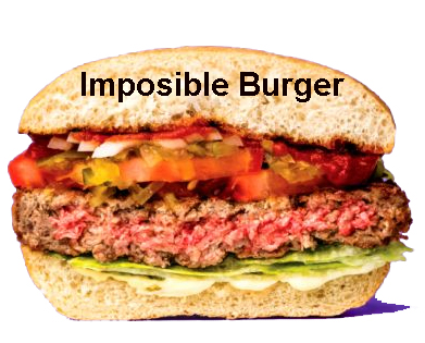 Plant based meatless Impossible burger