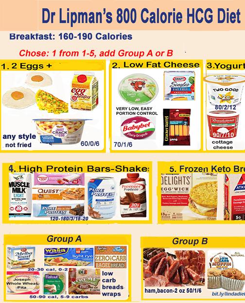 apporved foods on hcg diet